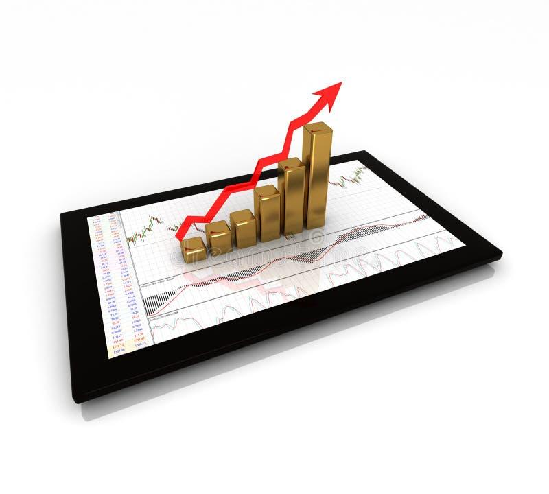 Chart, diagram. Business finance chart, diagram, graphic stock illustration