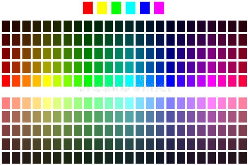 chart färg vektor illustrationer