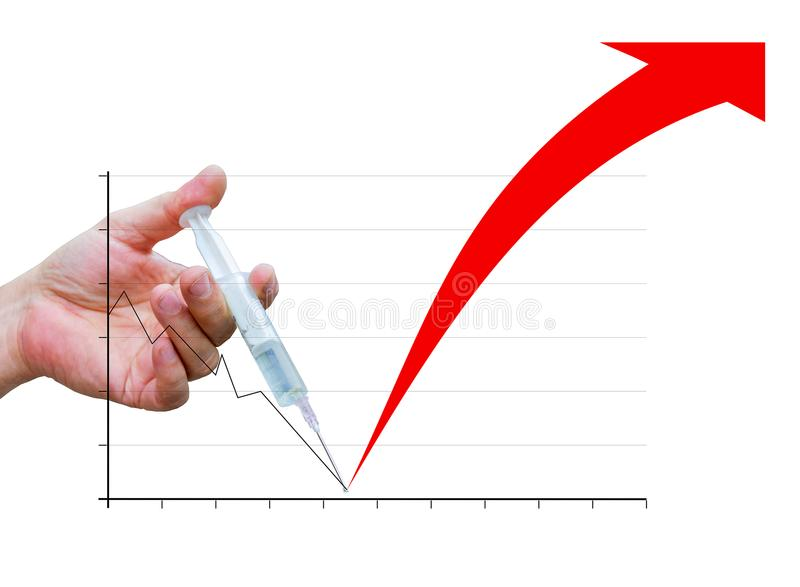 Chart of financial injection stock photos