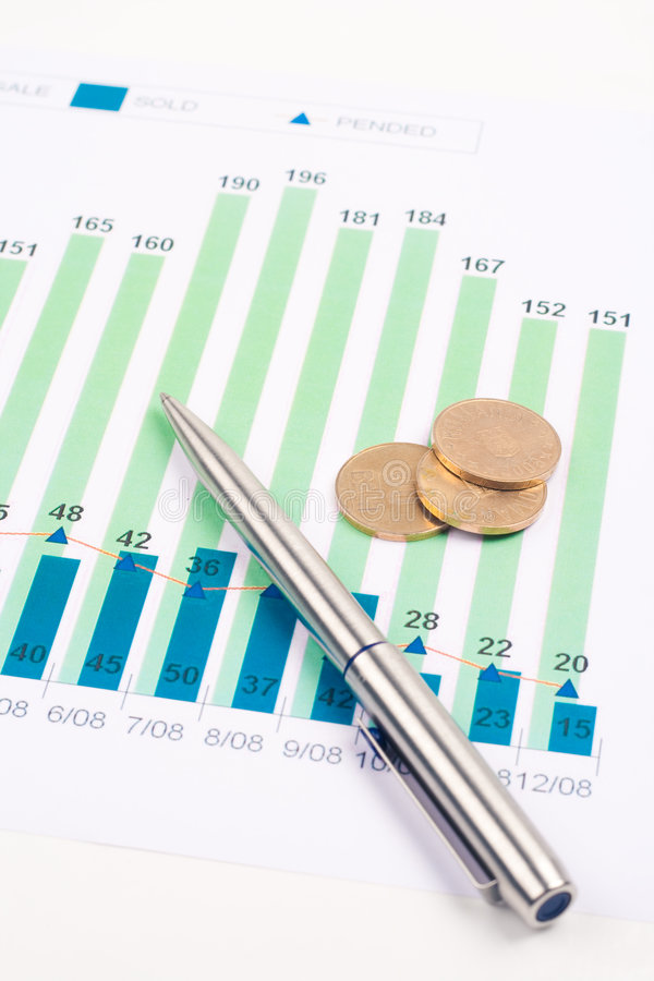 chart finans arkivfoto