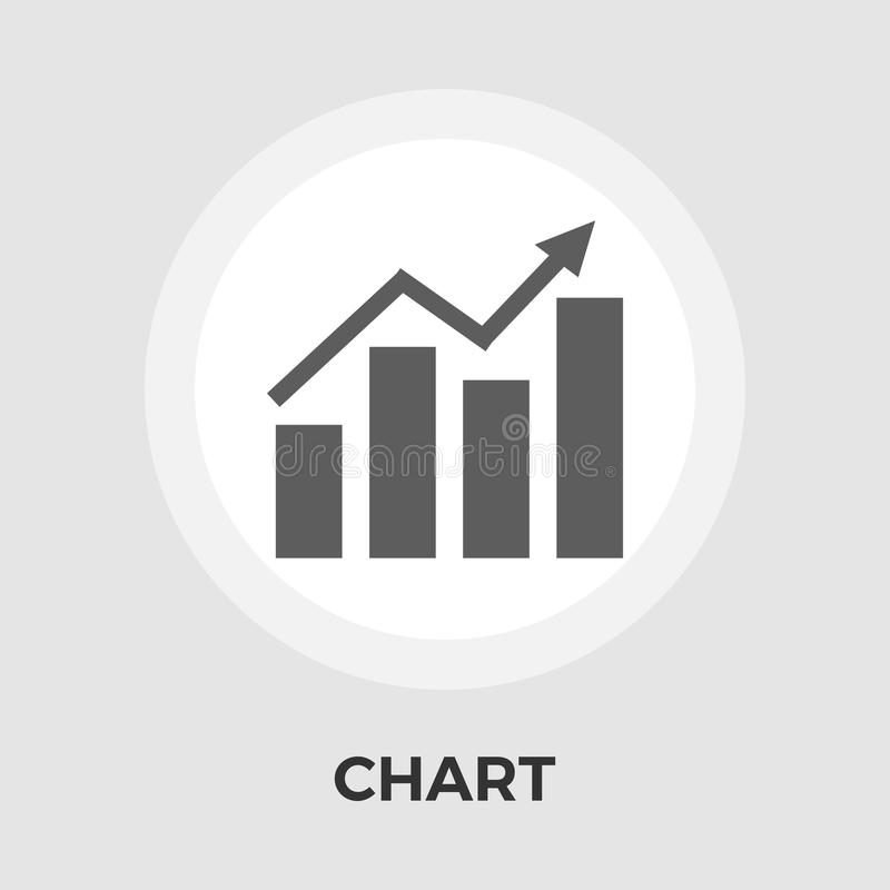 Chart flat single icon. Chart icon vector. Flat icon isolated on the white background. Editable EPS file. Vector illustration vector illustration
