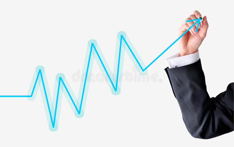 Download Chart fluctuations stock photo. Image of graph, white - 38919668
