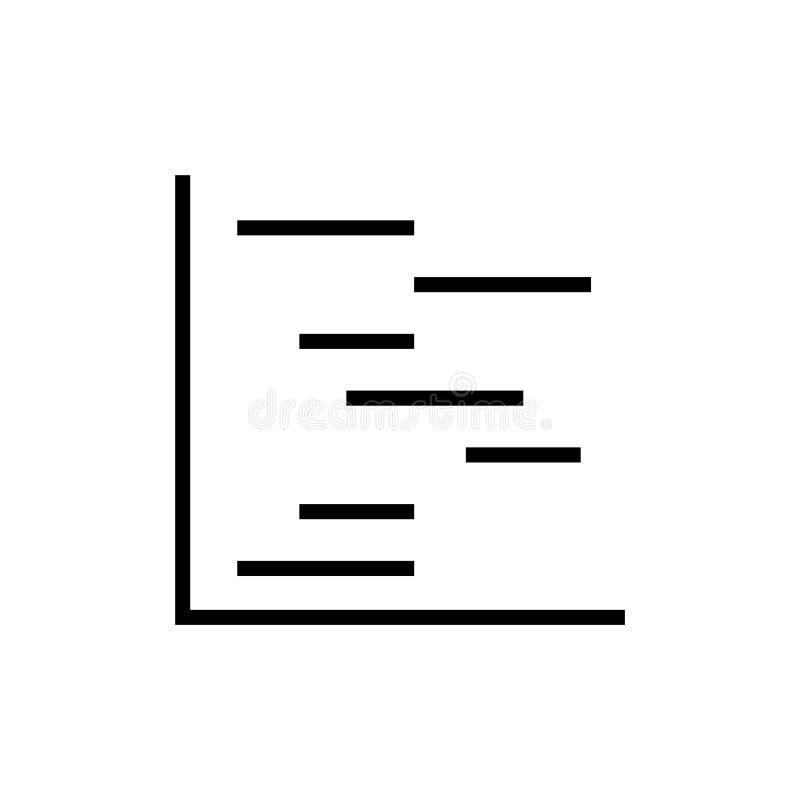 Chart gantt icon, vector illustration stock illustration