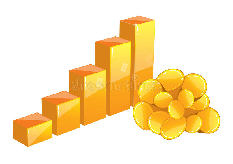 Download Chart for gold stock vector. Image of positive, growing - 14721775