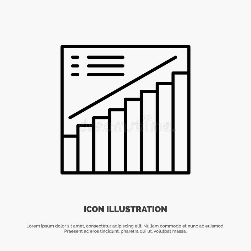 Chart, Graph, Analytics, Presentation, Sales Line Icon Vector stock illustration
