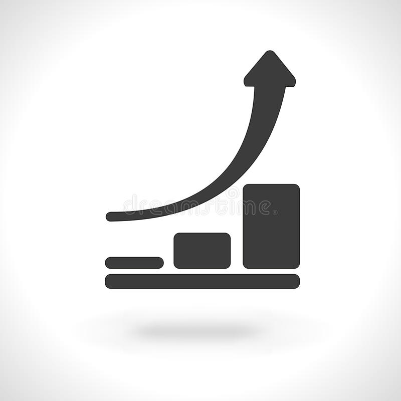 Chart icon. Infographic, chart icon isolated on gray background stock illustration