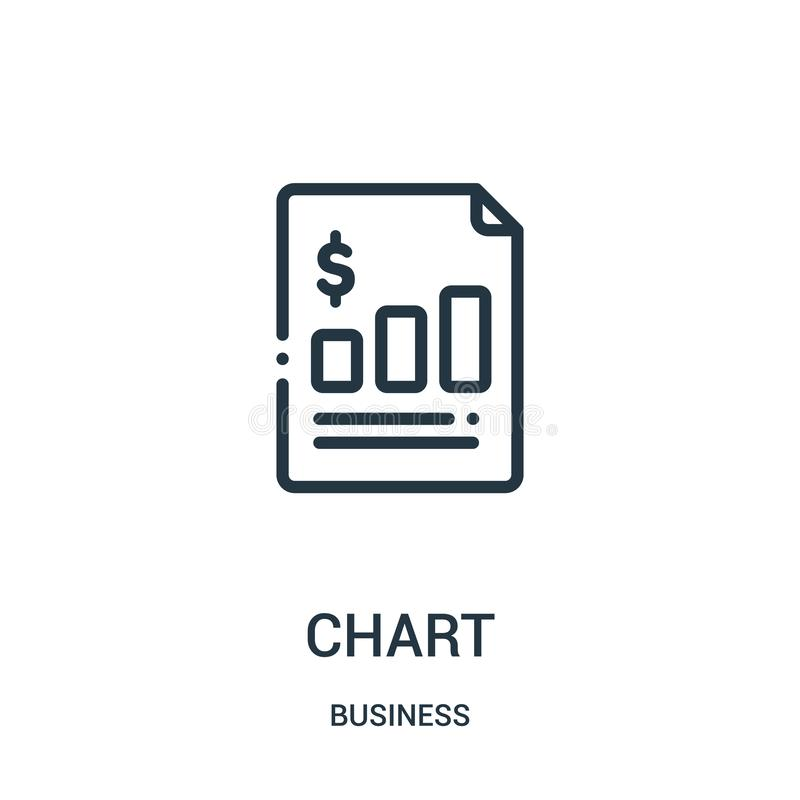 Chart icon vector from business collection. Thin line chart outline icon vector illustration. Linear symbol royalty free illustration