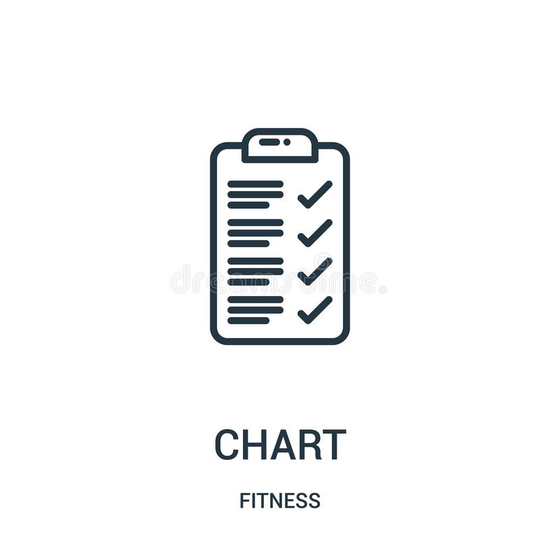 chart icon vector from fitness collection. Thin line chart outline icon vector illustration. Linear symbol for use on web and vector illustration