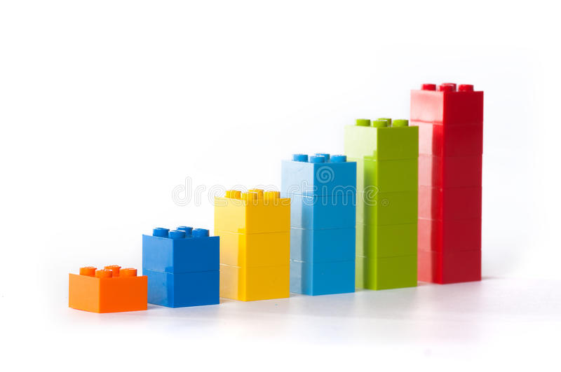 Chart from Lego royalty free stock image
