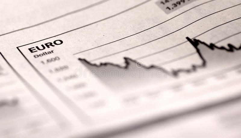 Download Chart in newspaper stock image. Image of financial, currency - 10217583