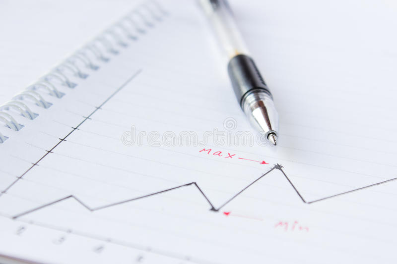 Download Chart and Pen stock photo. Image of chart, investment - 27232954