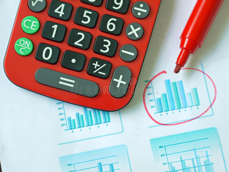 Chart And Pen Stock Photography