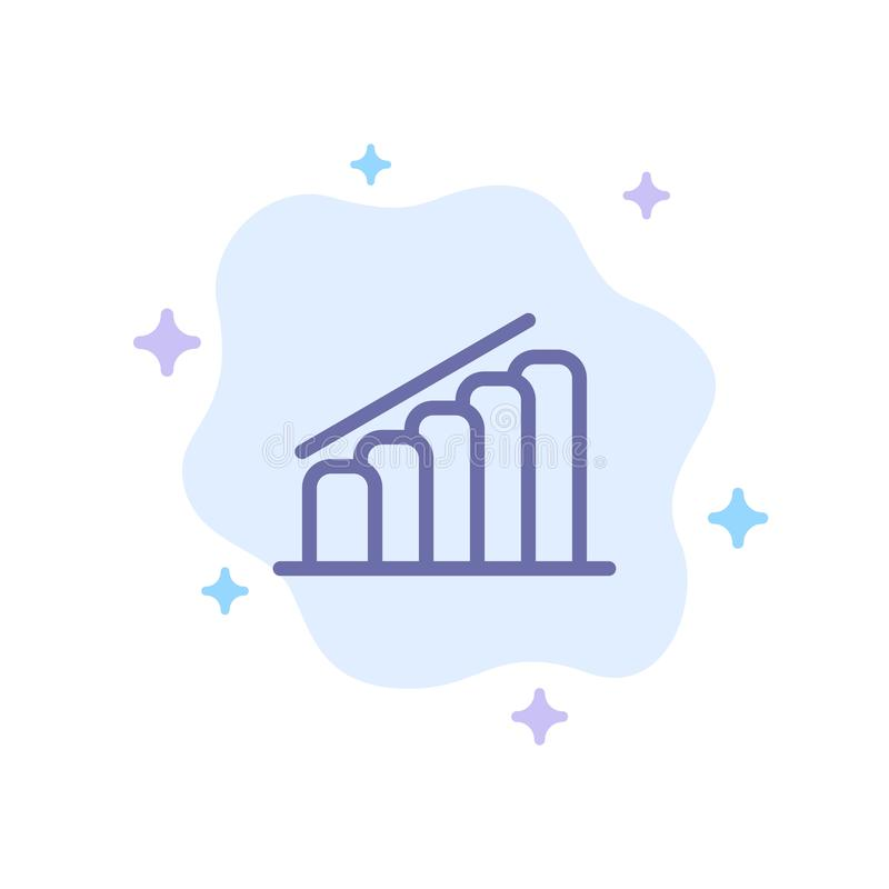 Chart, Progress, Report, Analysis Blue Icon on Abstract Cloud Background royalty free illustration