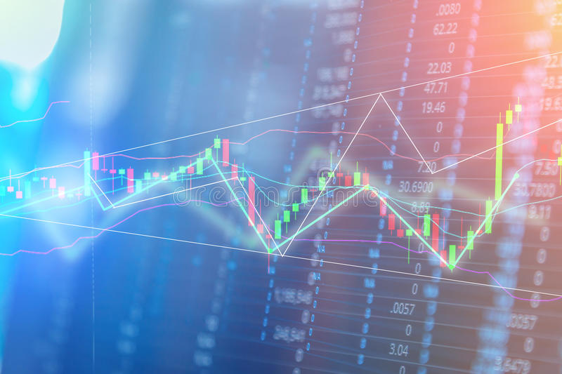 Chart of stock market investment trading royalty free stock photo