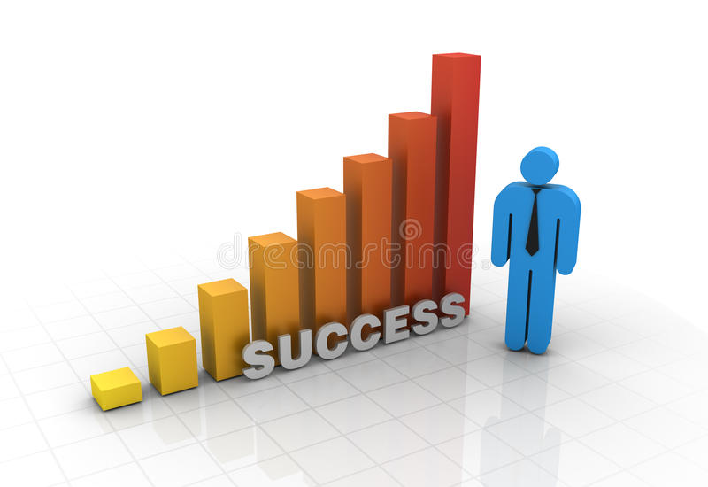 Chart Success vector illustration