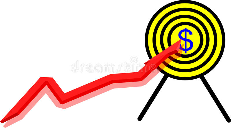 Download Chart and target stock vector. Image of dartboard, forecast - 14545769