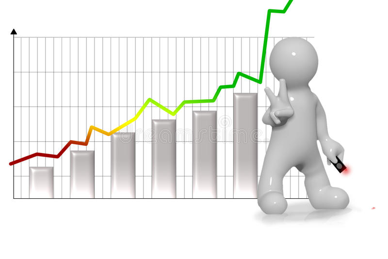 Download Chart Uphill And Victorious Man Stock Illustration - Illustration: 22024663