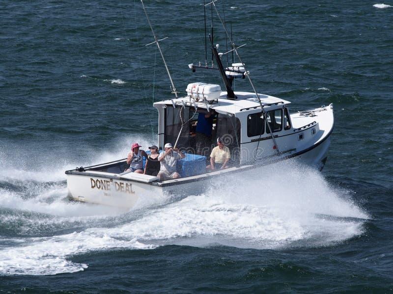 Charter för fiske för djupt hav arkivfoton