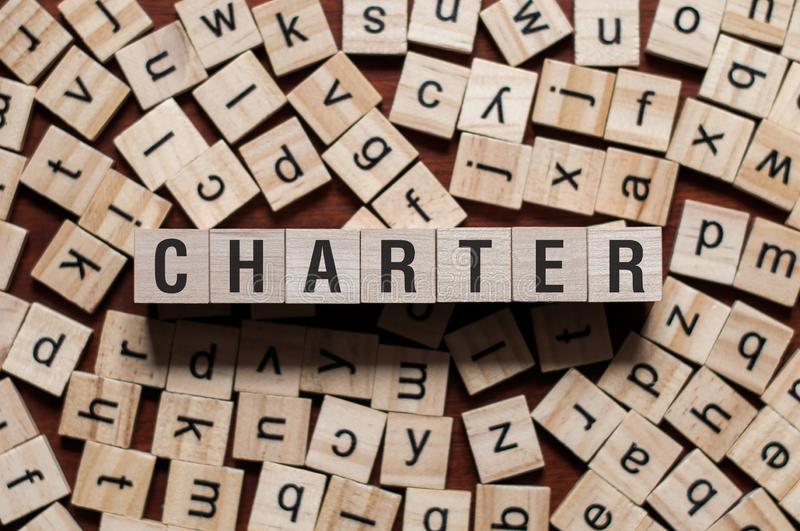 Charter word concept stock image