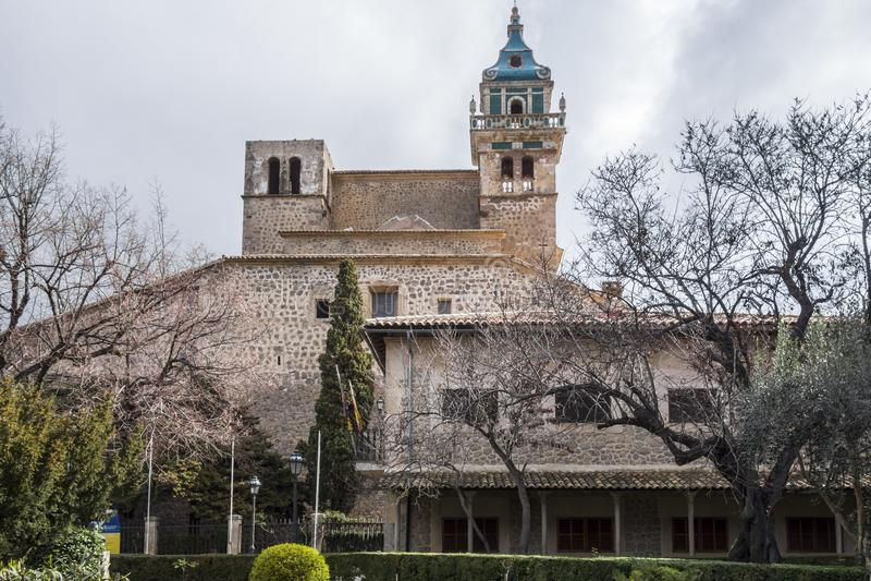 Charterhouse, Cartuja de Valldemossa, île de Majorca, Espagne photo stock