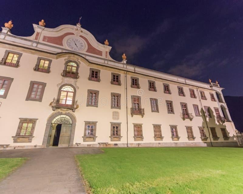Charterhouse de Pise Certosa di Calci au coucher du soleil images libres de droits