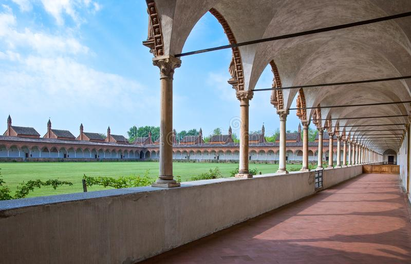 Charterhouse van Pavia stock foto's