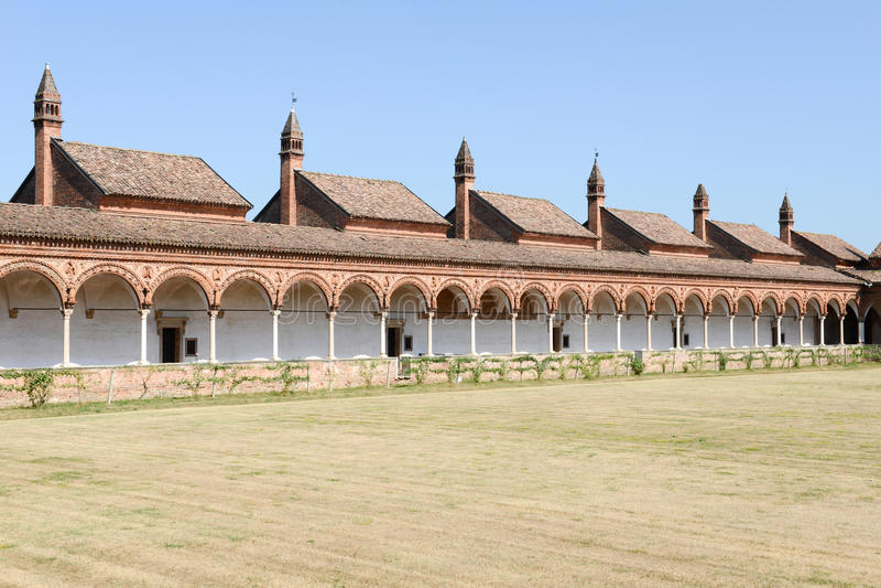 Charterhouse von Pavia- - Certosa-Di Pavia, Italien stockbilder