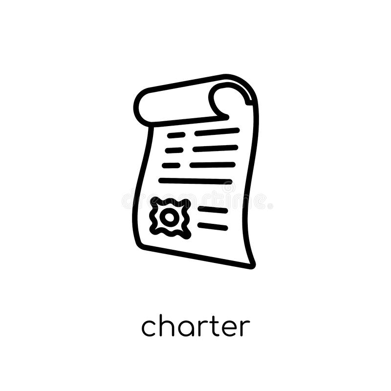 Chartersymbol från leverans och logistisk samling stock illustrationer
