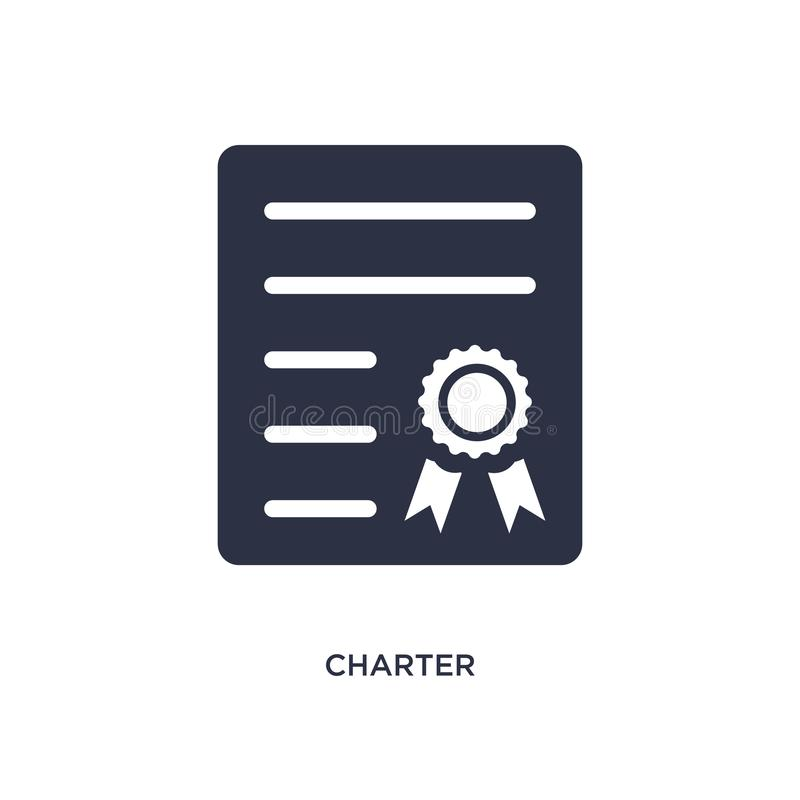 Chartersymbol på vit bakgrund Enkel beståndsdelillustration från leverans- och logistikbegrepp stock illustrationer