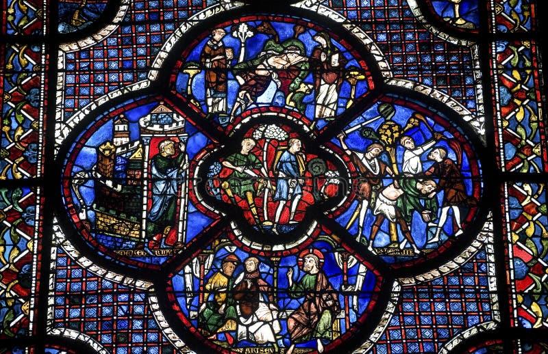 Chartres - catedral fotografia de stock
