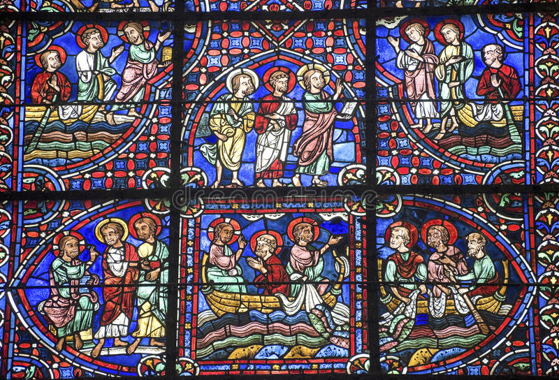Chartres - catedral imagem de stock