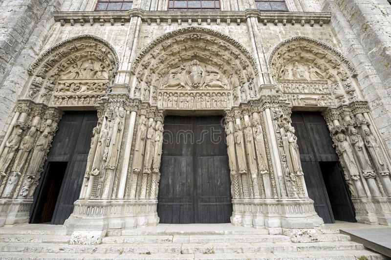 Chartres - catedral imagens de stock royalty free