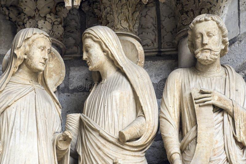 Chartres - catedral imagens de stock