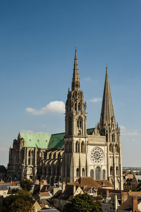 Chartres Cathedral royalty free stock photos