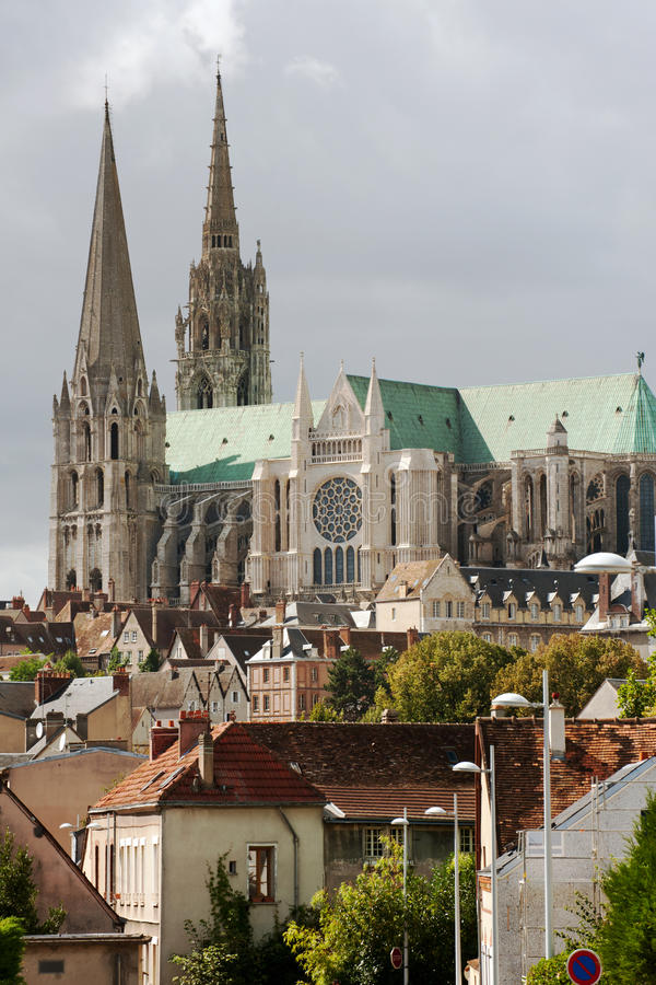 Chartres downtown royalty free stock photography