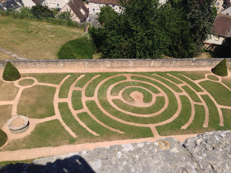 Chartres - Jardins de l'Evêché immagini stock libere da diritti