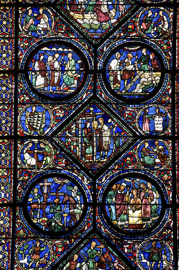 Chartres - Kathedrale lizenzfreie stockbilder