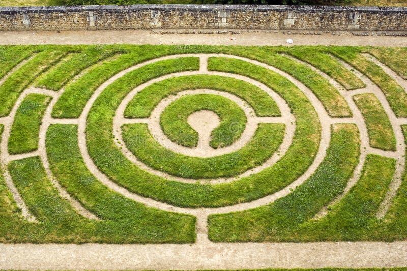 Chartres - labirinto imagens de stock royalty free