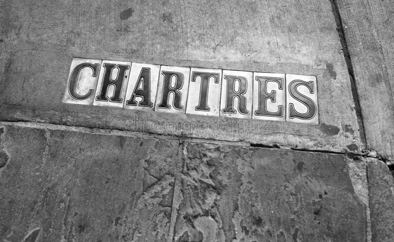 Chartres street signs in New Orleans royalty free stock photos