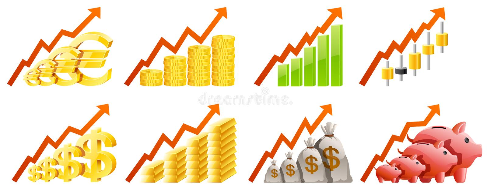 Download Charts stock vector. Illustration of accumulate, diagram - 27123447
