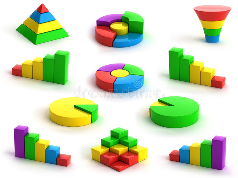 Charts and graphs stock illustration