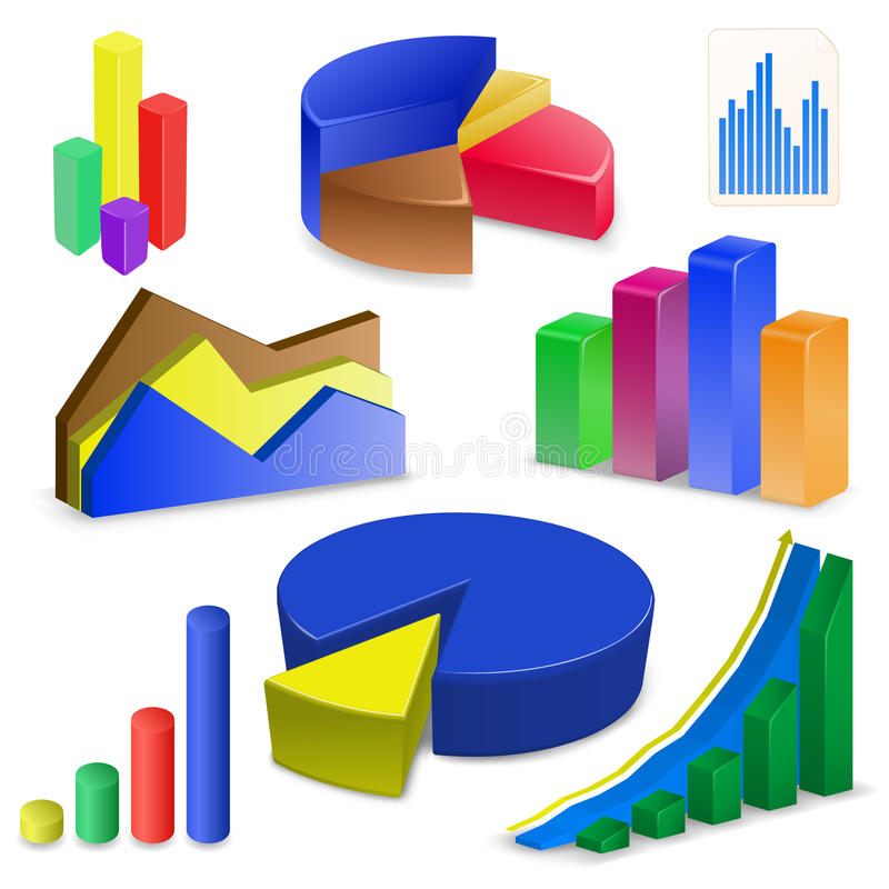 Download Charts And Graphs Collectio Royalty Free Stock Photos - Image: 12740078