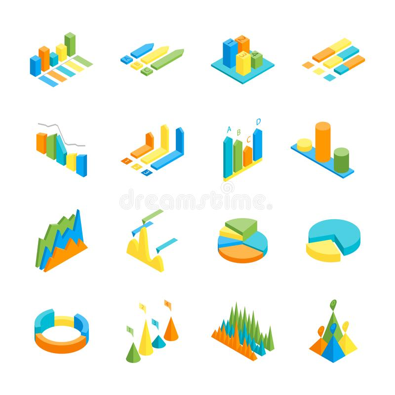 3d Design Using Home Designer Chief Architect Multi Level: Set Of 3d Graphs Stock Illustration. Illustration Of