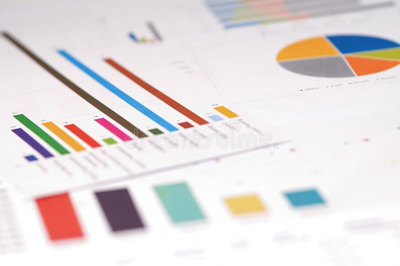 Charts Graphs paper. Financial development, Banking Account royalty free stock photography
