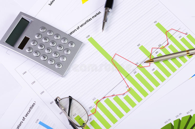 Download Charts and graphs of sales stock image. Image of annually - 14116055