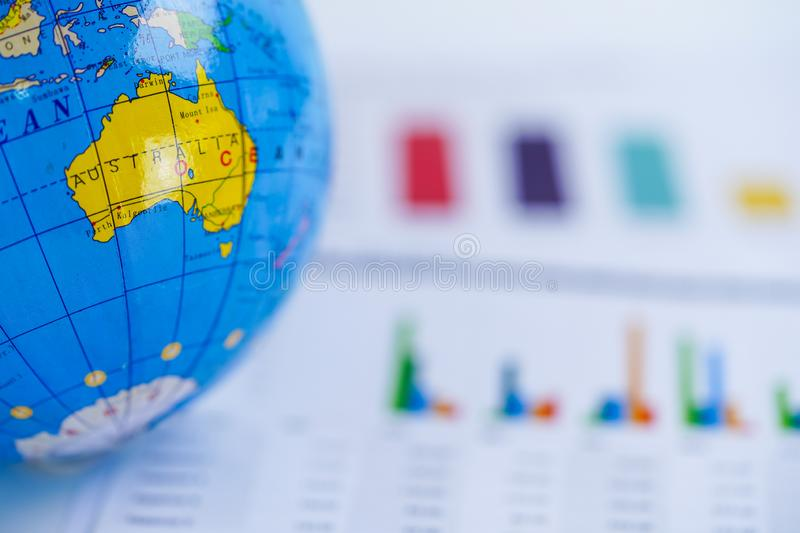 Charts Graphs spreadsheet paper. Financial development, Banking Account, Statistics, Investment Analytic research data. royalty free stock image