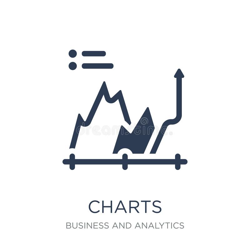 Charts icon. Trendy flat vector Charts icon on white background royalty free illustration