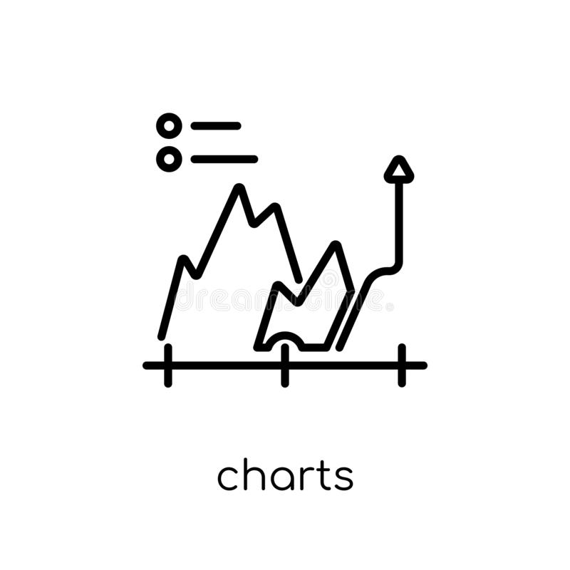 Charts icon. Trendy modern flat linear vector Charts icon on white background from thin line Business and analytics collection vector illustration