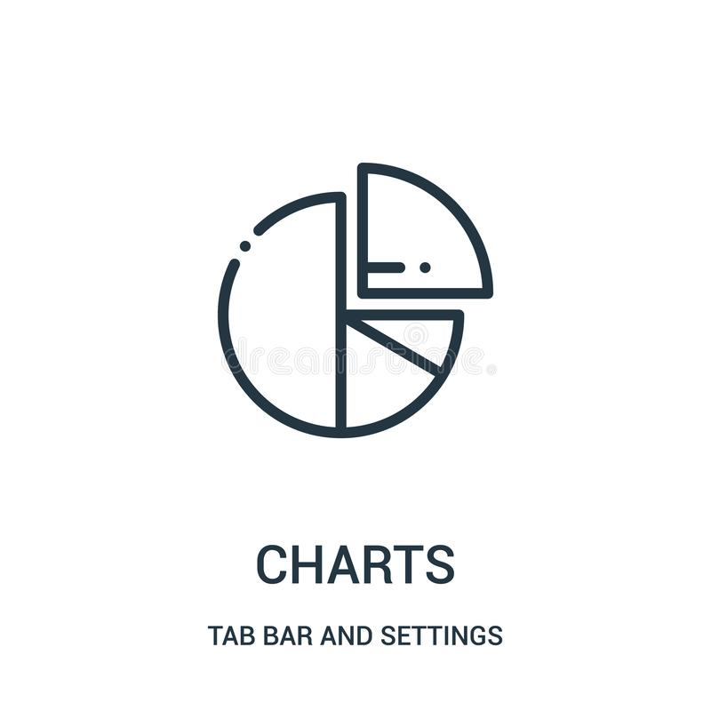charts icon vector from tab bar and settings collection. Thin line charts outline icon vector illustration vector illustration