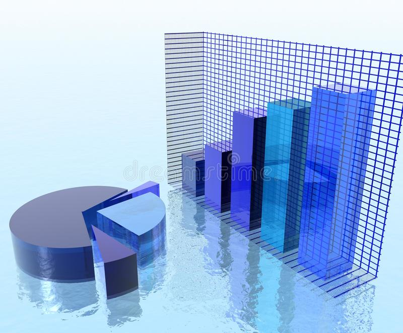 Charts over Water stock images